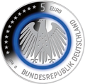 5 Euro€-commemorative coins with polymer ring